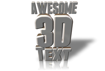 Awesome 3D Text in 3D Box Shot Pro